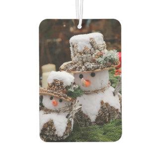 Snowmen Wearing Pinecone Hat Air Freshener