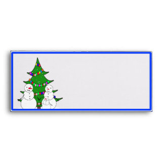 Snowmen with Christmas Tree Family Envelope