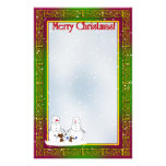 Snowmen with Christmas Tree Family Stationery Design