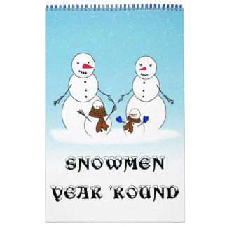 SNOWMEN YEAR ROUND CALENDAR CALENDARS