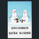 """SNOWMEN YEAR &#39;ROUND CALENDAR<br><div class=""""desc"""">Start the New Year with a new custom calendar! Many to choose from at the CALENDAR section of this store... ... ... ..Thank you for stopping by! Gravityx9 Designs offers a large blend of images,  photographs,  art and designs... . Contact me for information about new products.</div>"""
