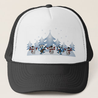 Snowmens & Reindeers Trucker Hat