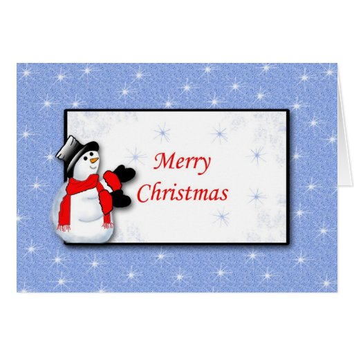 Snowmman - Merry Christmas Cards
