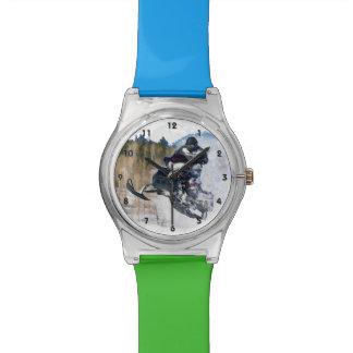 Snowmobile aerotransportado relojes de pulsera