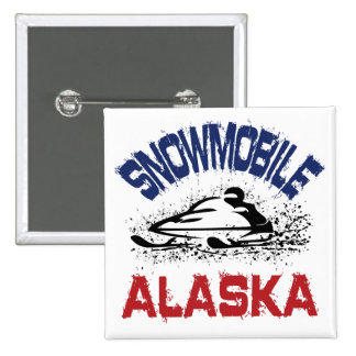 Snowmobile Alaska Pinback Button
