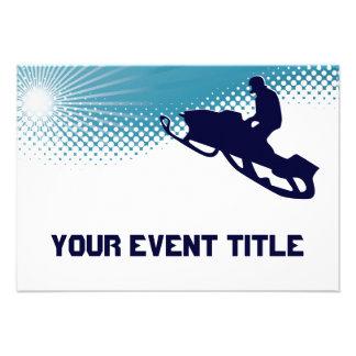 snowmobile altísimo invitacion personalizada