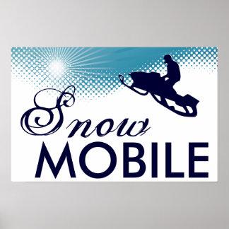 snowmobile altísimo póster