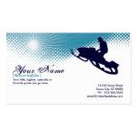 snowmobile altísimo tarjetas de visita