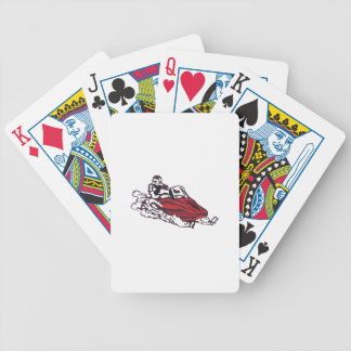 Snowmobile Bicycle Playing Cards