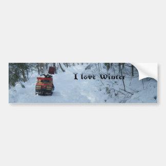 -Snowmobile Bumper Sticker