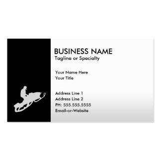 snowmobile business cards