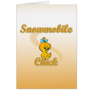 Snowmobile Chick Cards