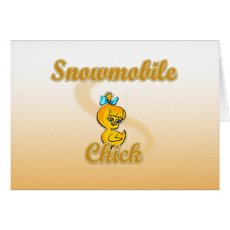 Snowmobile Chick Card