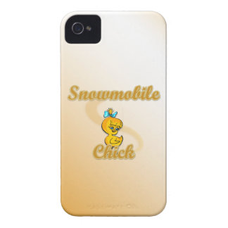 Snowmobile Chick iPhone 4 Case-Mate Cases