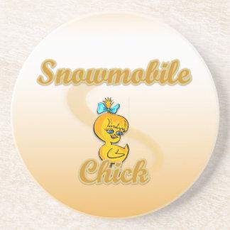 Snowmobile Chick Coaster