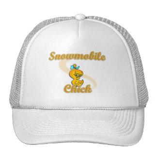 Snowmobile Chick Trucker Hat