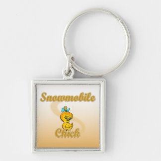 Snowmobile Chick Keychains