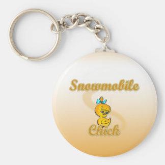 Snowmobile Chick Keychain
