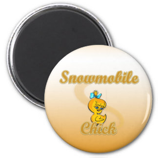 Snowmobile Chick Fridge Magnets