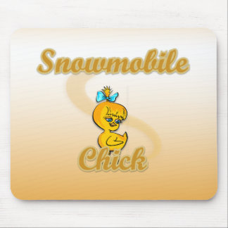 Snowmobile Chick Mouse Pads