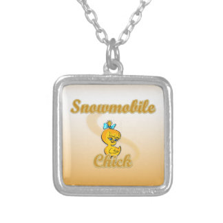 Snowmobile Chick Personalized Necklace