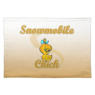 Snowmobile Chick Place Mats