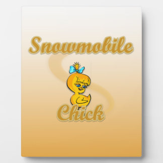 Snowmobile Chick Plaques
