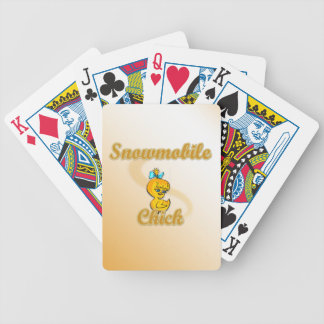Snowmobile Chick Bicycle Card Deck