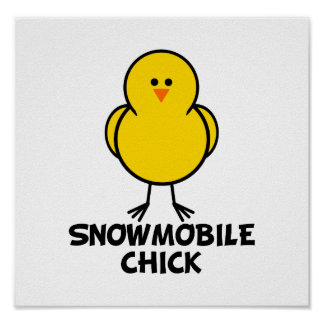 Snowmobile Chick Poster