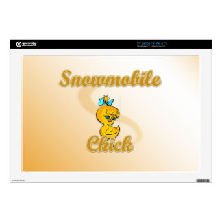 Snowmobile Chick Laptop Decals