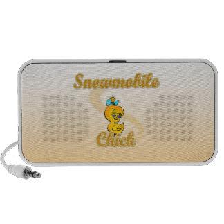 Snowmobile Chick iPod Speaker