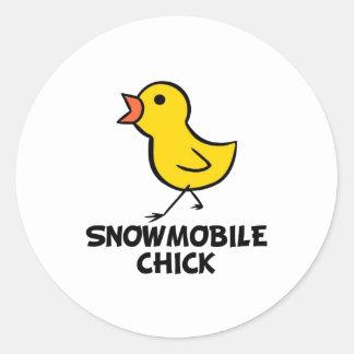 Snowmobile Chick Sticker