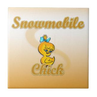 Snowmobile Chick Tile