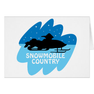 Snowmobile Country Card