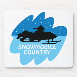 Snowmobile Country Mouse Pad