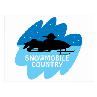 Snowmobile Country Postcard