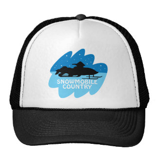 Snowmobile Country Trucker Hat