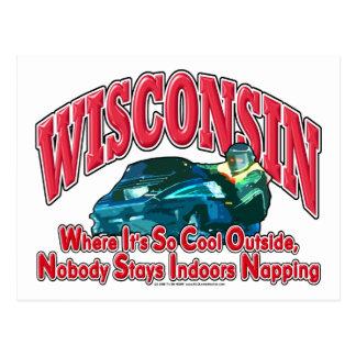 Snowmobile de Wisconsin Tarjeta Postal