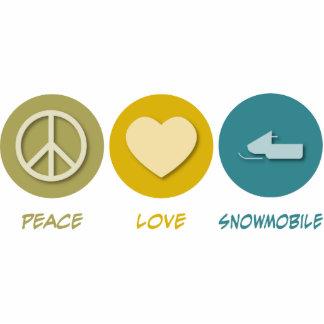 Snowmobile del amor de la paz esculturas fotograficas