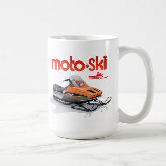 snowmobile del esquí del moto taza de café