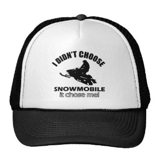 snowmobile design hats