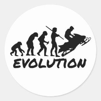 Snowmobile Evolution Classic Round Sticker