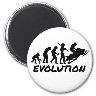 Snowmobile Evolution Fridge Magnets
