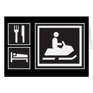 Snowmobile Fanatic - Eat, sleep, go snowmobiling! Card