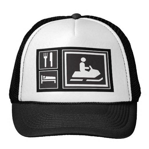 Snowmobile Fanatic - Eat, sleep, go snowmobiling! Mesh Hat