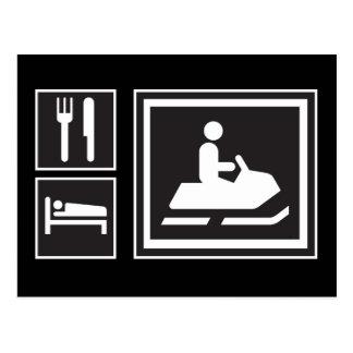 Snowmobile Fanatic - Eat, sleep, go snowmobiling! Postcard