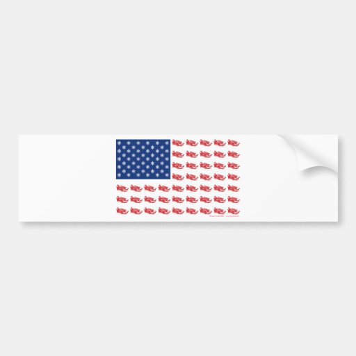 Snowmobile Flag Bumper Sticker