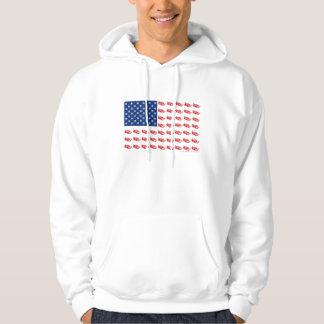 Snowmobile Flag Hoodie