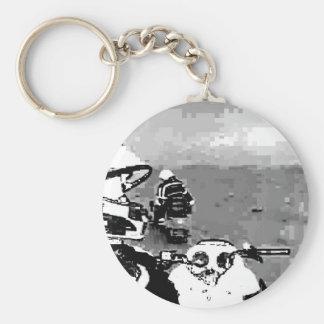 Snowmobile Freedom Keychain
