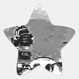 Snowmobile Freedom Star Sticker